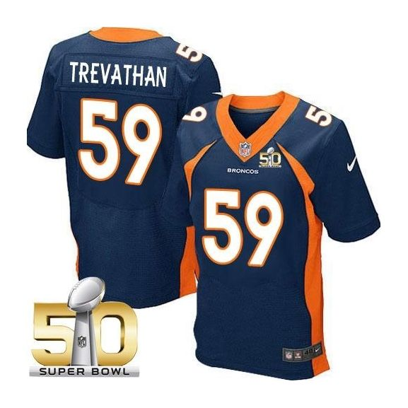 Mens Nfl Denver Broncos #59 Danny Trevathan Blue Super Bowl 50 Bound Elite Jersey