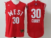 Mens Nba 2016 All Star West Golden State Warriors #30 Stephen Curry Red Jersey