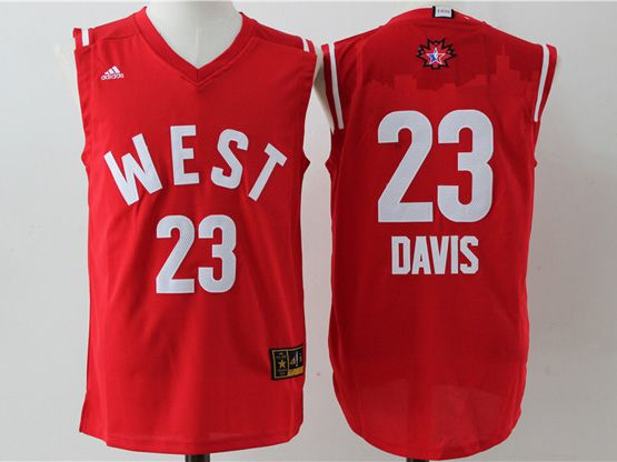 Mens Nba 2016 All Star West Charlotte Hornets #23 Davis Red Jersey