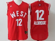 Mens Nba 2016 All Star West San Antonio Spurs #12 Aldridge Red Jersey