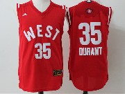 Mens Nba 2016 All Star West Oklahoma City Thunder #35 Kevin Durant Red Jersey