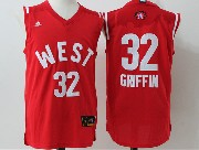 Mens Nba 2016 All Star West Los Angeles Clippers #32 Griffin Red Jersey