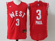 Mens Nba 2016 All Star West Los Angeles Clippers #3 Paul Red Jersey