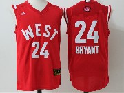 Mens Nba 2016 All Star West Los Angeles Lakers #24 Bryant Red Jersey