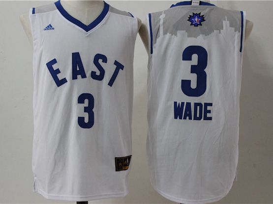 Mens Nba 2016 All Star East Miami Heat #3 Wade White Jersey