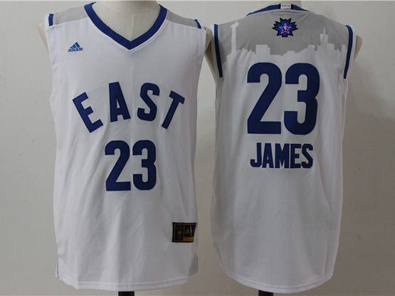 Mens Nba 2016 All Star East Cleveland Cavaliers #23 Lebron James White Jersey