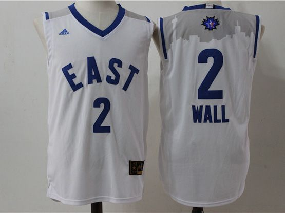 Mens Nba 2016 All Star East Washington Wizards #2 Wall White Jersey