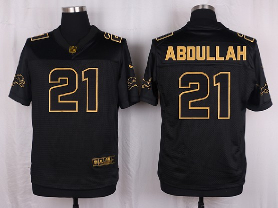 Mens Nfl Detroit Lions #21 Abdullah Black Gold Super Bowl 50 Elite Jersey