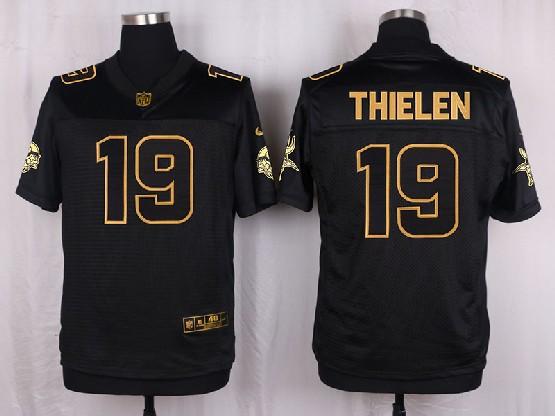 Mens Nfl Minnesota Vikings #19 Thielen Black Gold Super Bowl 50 Elite Jersey