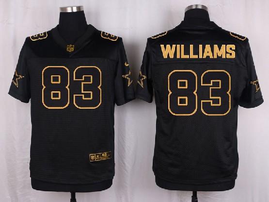 Mens Nfl Dallas Cowboys #83 Williams Black Gold Super Bowl 50 Elite Jersey