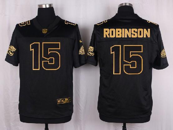 Mens Nfl Jacksonville Jaguars #15 Allen Robinson Black Gold Super Bowl 50 Elite Jersey