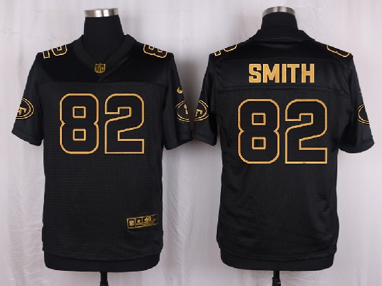 Mens Nfl San Francisco 49ers #82 Torrey Smith Black Gold Super Bowl 50 Elite Jersey