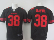 Mens Nfl San Francisco 49ers #38 Hayne Black Elite Jersey