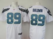 Mens Nfl Seattle Seahawks #89 Baldwin White Elite Jersey