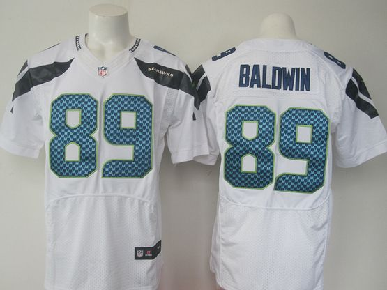 Mens Nfl Seattle Seahawks #89 Baldwin White Elite Jersey