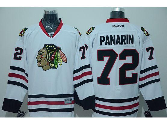 Mens reebok nhl chicago blackhawks #72 panarin white (2014 new) Jersey
