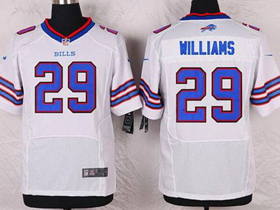 Mens Nfl Buffalo Bills #29 Williams White 2013 Elite Jersey