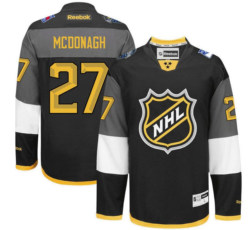 Mens Reebok Nhl New York Rangers #27 Mcdonagh Black 2016 All Star Jersey