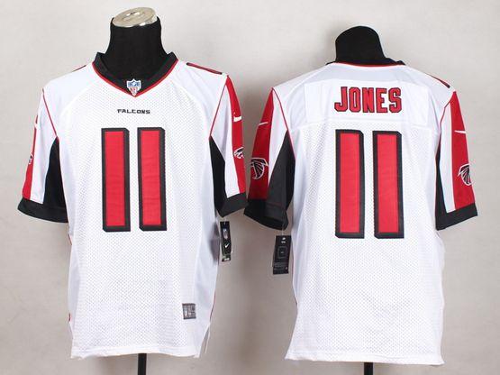 Mens Nfl Atlanta Falcons #11 Julio Jones White Elite Jersey