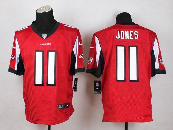Mens Nfl Atlanta Falcons #11 Jones Red Elite Jersey
