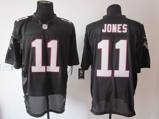 Mens Nfl Atlanta Falcons #11 Jones Black Elite Jersey