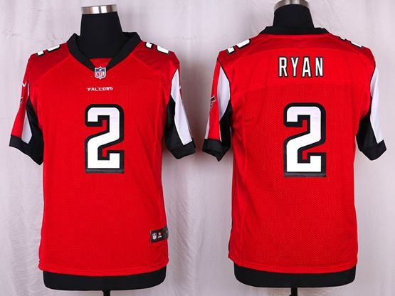 Mens Nfl Atlanta Falcons #2 Ryan Red Elite Jersey