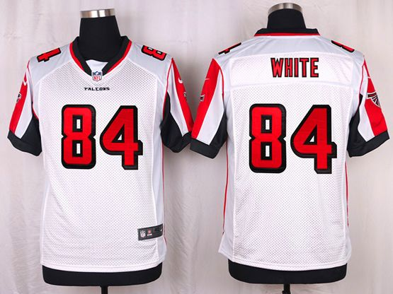 Mens Nfl Atlanta Falcons #84 White White Elite Jersey