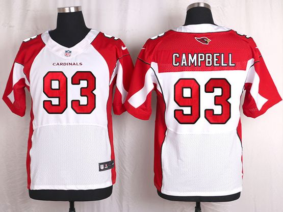 Mens Nfl Arizona Cardinals #93 Calais Campbell White Elite Jersey