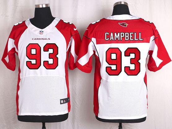 Mens Nfl Arizona Cardinals #93 Calais Campbell White Elite Jersey