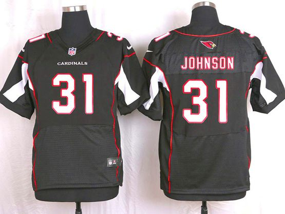 Mens Nfl Arizona Cardinals #31 David Johnson Black Elite Jersey