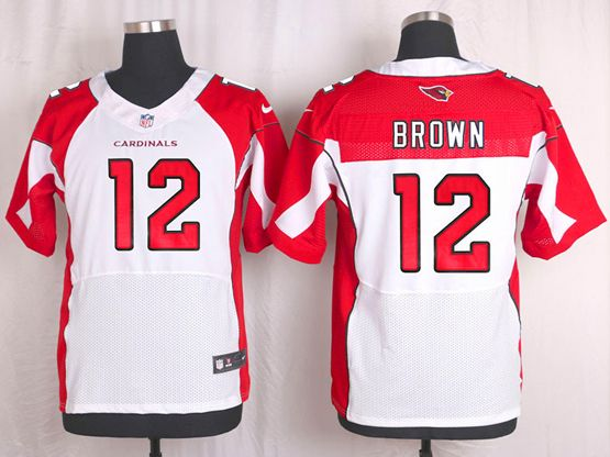 Mens Nfl Arizona Cardinals #12 John Brown White Elite Jersey