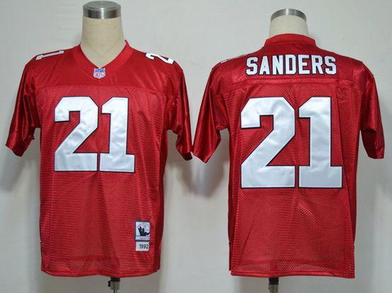 Mens nfl atlanta falcons #21 sanders red throwbacks Jersey