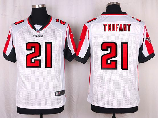 Mens Nfl Atlanta Falcons #21 Trufant White Elite Jersey