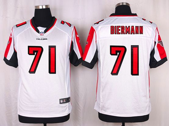 Mens Nfl Atlanta Falcons #71 Kroy Biermann White Elite Jersey