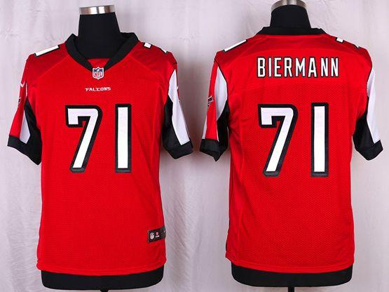 Mens Nfl Atlanta Falcons #71 Kroy Biermann Red Elite Jersey
