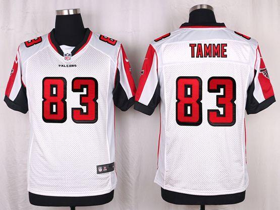 Mens Nfl Atlanta Falcons #83 Jacob Tamme White Elite Jersey