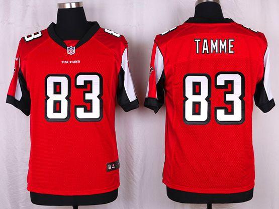Mens Nfl Atlanta Falcons #83 Jacob Tamme Red Elite Jersey