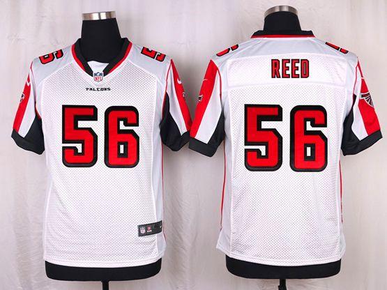 Mens Nfl Atlanta Falcons #56 Brooks Reed White Elite Jersey