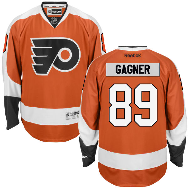 Mens Reebok Nhl Philadelphia Flyers #89 Sam Gagner Orange Home Premier Jersey