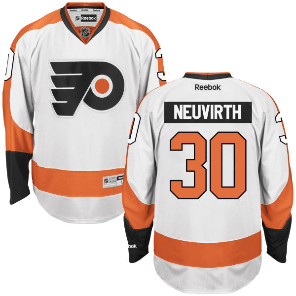 Mens Reebok Nhl Philadelphia Flyers #30 Michal Neuvirth White Away Premier Jersey
