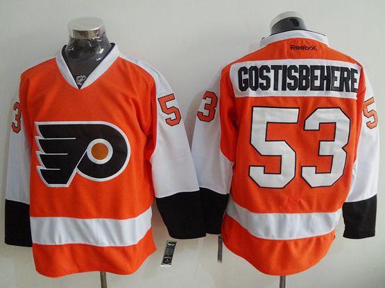 Mens Nhl Philadelphia Flyers #53 Shayne Gostisbehere Orange Jersey