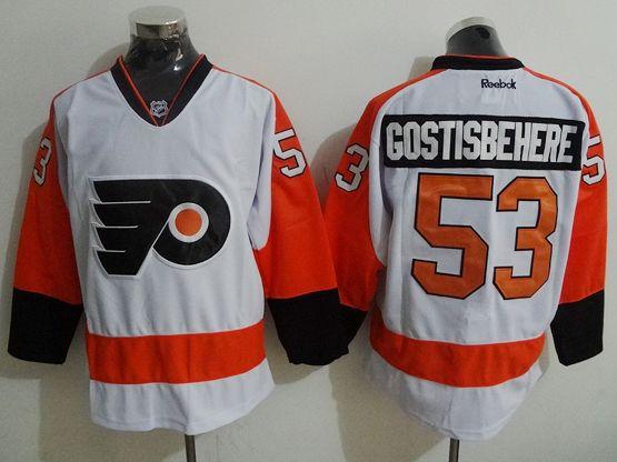 Mens Nhl Philadelphia Flyers #53 Shayne Gostisbehere White Jersey