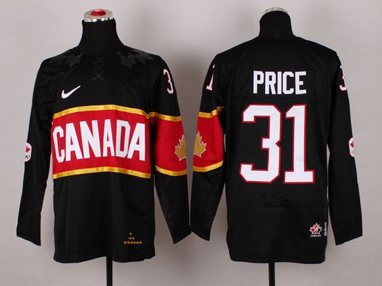 Mens Nhl Team Canada #31 Carey Price Black (2014 Olympics) Jersey