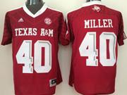 Mens Ncaa Nfl Texas A&m Aggies #40 Von Miller Red Jersey