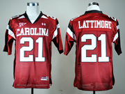 Mens Ncaa Nfl South Carolina Gamecock #21 Lattimore Red Jersey