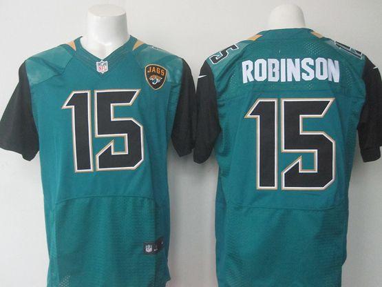 Mens   Jacksonville Jaguars #15 Allen Robinson Green Elite Jersey