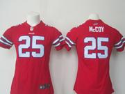 Women  Nfl Buffalo Bills #25 Lesean Mccoy Red Game Jersey