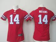 Women  Nfl Buffalo Bills #14 Sammy Watkins Red Game Jersey