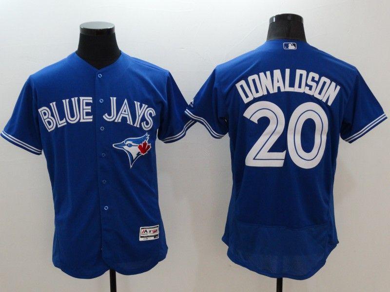 Mens Majestic Toronto Blue Jays #20 Josh Donaldson Blue Flexbase Collection Jersey