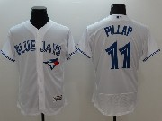 mens majestic toronto blue jays #11 kevin pillar white Flex Base jersey
